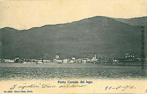 08976  CARTOLINA d'Epoca - VARESE: PORTO CERESIO 1903