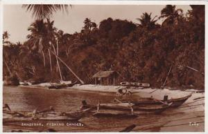 Tanzania Zanzibar Fishing Canoes Real Photo