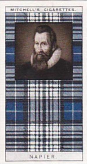 Mitchell Vintage Cigarette Card Clan Tartans No 22 NAPIER
