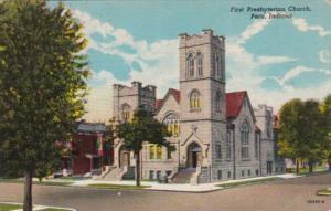 Indiana Peru First Presbyterian Church 1950 Curteich
