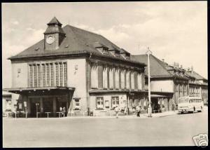 germany, GLAUCHAU, Bahnhof, Bus (1965) Station