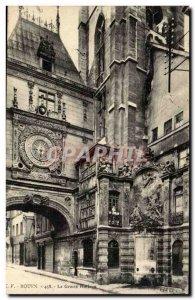 Rouen Old Postcard The big clock Clock