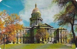Colorado Denver Colorado State Capitol Overlooking The Civic Center