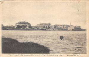 Newport Rhode Island~US Naval Training Station~View from Entrance~1917 B&W Pc
