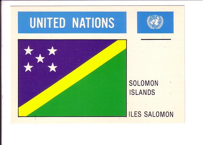 Solomon Islands, Flag, United Nations