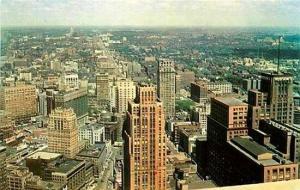 MI, Detroit, Michigan, City View, Downtown, Colorpicture No. P2311
