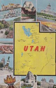 Map Of Utah 1944
