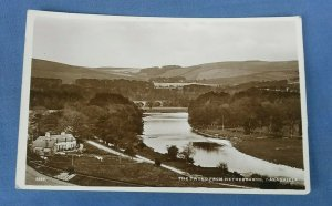 Vintage Real Photo Postcard The Tweed From Netherbarns Galashiels  G1G