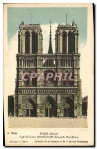 Old Postcard Paris Seine Notre Dame Cathedral North West Together