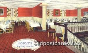 Rosoff's Restaurant, New York City, NYC Postcard Post Card USA Old Vinta...