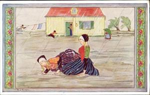 artist signed RIE CRAMER, Old Children's Songs (1930s) (4)