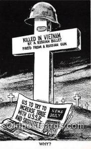 Killed in Vietnam Russay Bullet, Why Political Postcard Post Card Russay Bull...