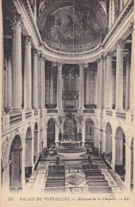 France Versailles Interieur de la Chapelle Palais de Versailles