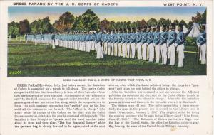WEST POINT, New York, PU-1946; Dress Parade By The U.S. Corps Of Cadets