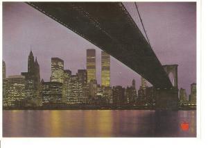 Postal 045482 : Night view of Lower Manhattan
