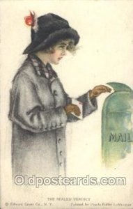 American Girl No. 50 Pearl Eugenia Fidler, Artist Signed 1914 crease right ed...