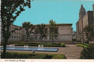Illinois Chicago Art Institute Formal Garden