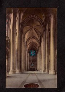 NYC NY Cathedral Church St John the Divine New York City Hand Colored Postcard