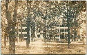 CASTLETON, Vermont RPPC Real Photo Postcard The Castleton HOTEL / 1911 Cancel