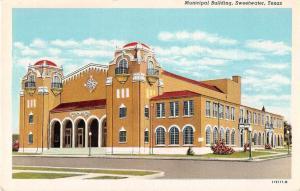 Sweetwater Texas Municipal Building Antique Postcard J51400