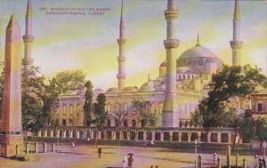 Turkey Constantinople Mosque Of Sultan Ahmid 1908