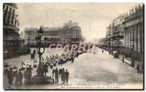 Postcard Old Bordeaux Funerals Cardinal Lecot View d & # 39ensemble the proce...