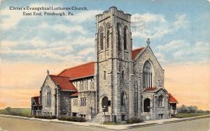 East End Pittsburgh PA~Christ's Evangelical Lutheran Church~Corner Belfry c1914