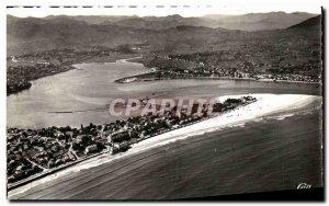 Modern Postcard Frontiere Franco Hendaye taking Spanish plane view