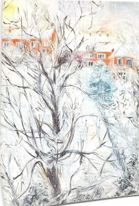 B22792 Garden Under Snow Jean Van Wel  painting