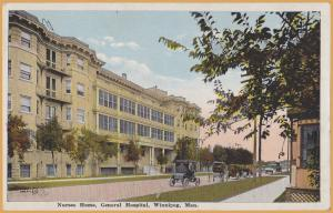 Winnipeg, Manitoba-Nurses Home, General Hospital -