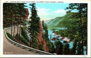 Columbia River Highway , OREGON FISH UNPOSTED POSTCARD