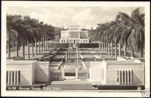 hawaii, LAIE OAHU, Mormon Temple (1940s) RPPC