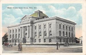 Peru Indiana~Miami County Court House~People xing Street~Vintage Car~1920s Pc