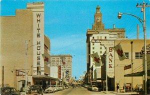 Automobiles Beaumont Texas Orleans Street downtown Business Postcard 20-8063