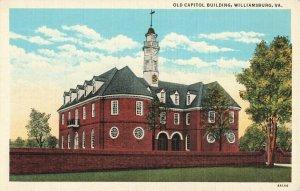 Postcard Old Capitol Building Williamsburg Virginia