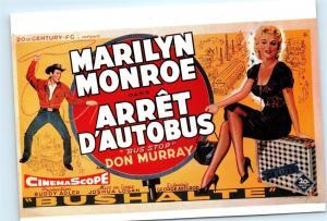 *Arret D'Autobus Bus Stop Marilyn Monroe Cinema Scope Fox 4x6 Postcard C01