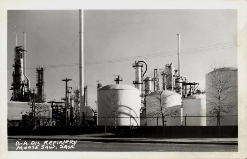 canada, MOOSE JAW, Sask., British American Oil Refinery (1950s) RPPC