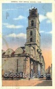Havana, Cuba,  Post Office Postcard, Postoffice Post Card Old Vintage Antique...
