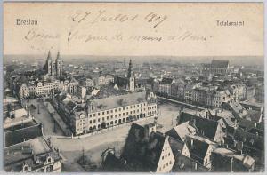 POLAND -  Vintage Postcard archiwalne pocztówki - Wrocław  Breslau 1908