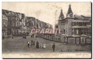 Old Postcard Treport Casino shooting the & # 39esplanade