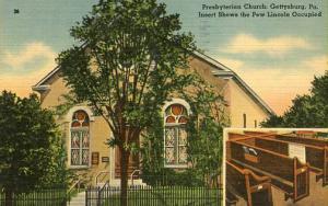PA - Gettysburg. Presbyterian Church where Abe Lincoln Attended