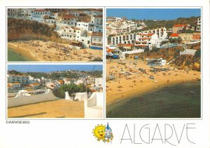 B108638 Portugal Algarve Carvoeiro Beach Plage Hotel Panorama real photo uk
