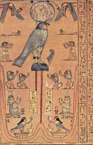 Mayers Papyrus Series Isis and Nephtys Sisters Of Isiris Kneeling in Adoration