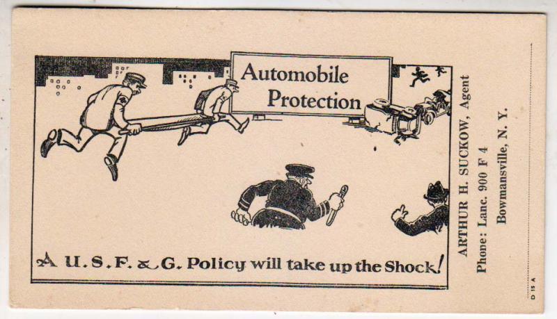 Auto Protection, Arthur H Suckow, Bowmansville NY