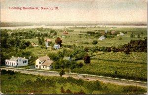 Looking Southwest Nauvoo Illinois Postcard