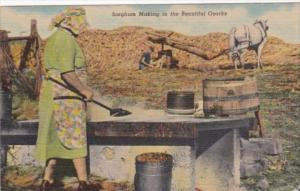 Sorghum Making in The Beautiful Ozarks Missouri 1955 Curteich