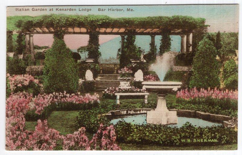 Bar Harbor, Me, Italian Garden at Kenarden Lodge
