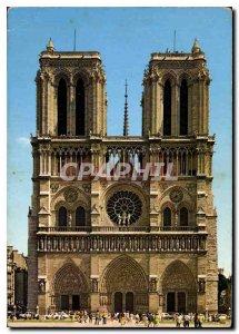 Modern Postcard Paris Notre Dame Facade