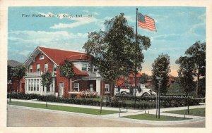 LP29  Fire Station Gary Indiana Vintage Postcard