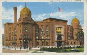Medinah Temple ~ Chicago Illinois IL ~ Cass Street ~ Vintage c1924 Postcard